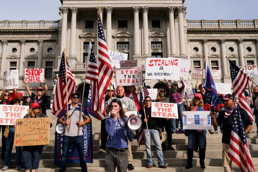 Demonstrators at State Capital
